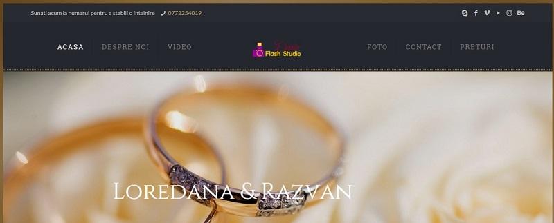 Creare site pentru studio Foto Video Profesional 1
