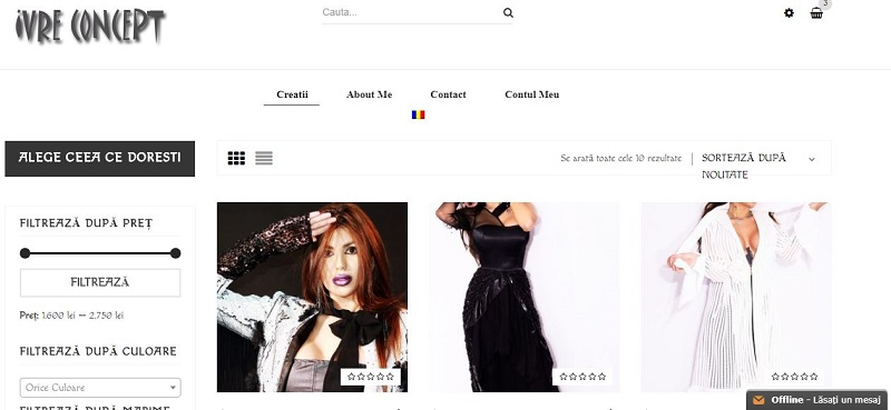 Creare magazin online de fashion