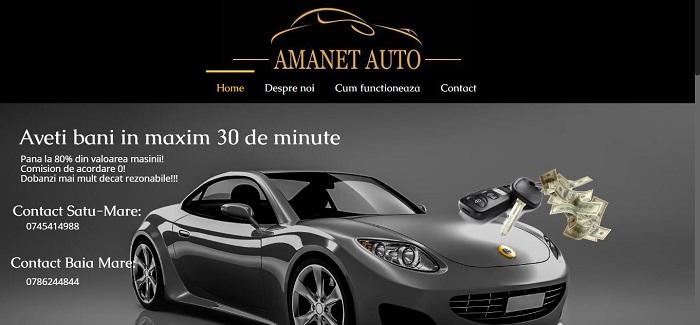 Creare site web pentru amanet