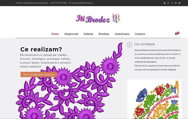 Creare magazin online de broderie