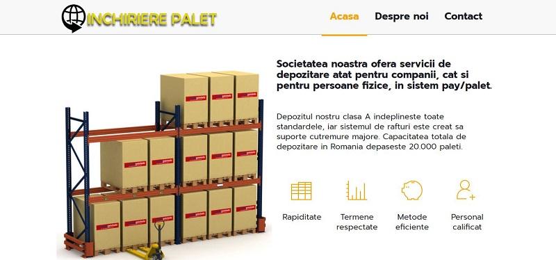 Creare site Inchiriere palet 2