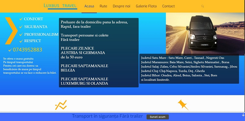 Creare site Firma de transport 3