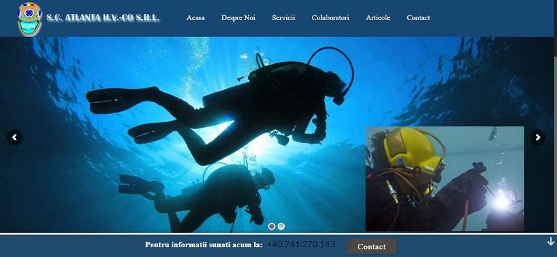Creare site web pentru scafandri 2