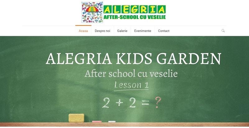 Creare site pentru After School 3