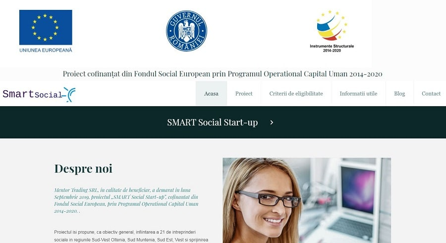 Creare site SMART Social Start-up 8