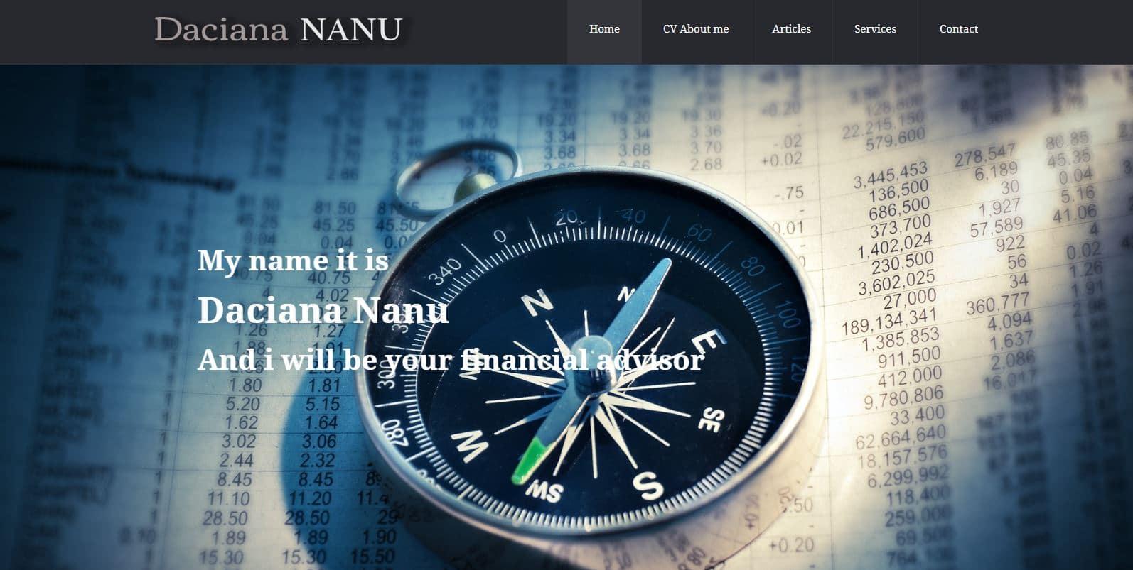 Creare site pentru firma de consiliere fiscala 10