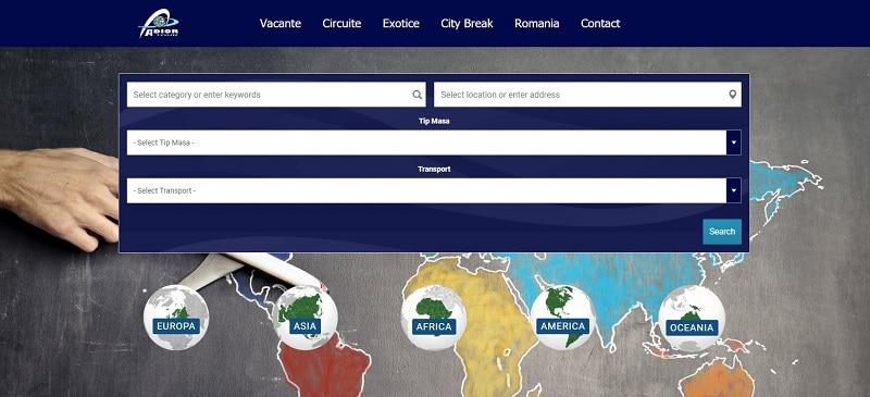 Creare website pentru agentie de turism 1