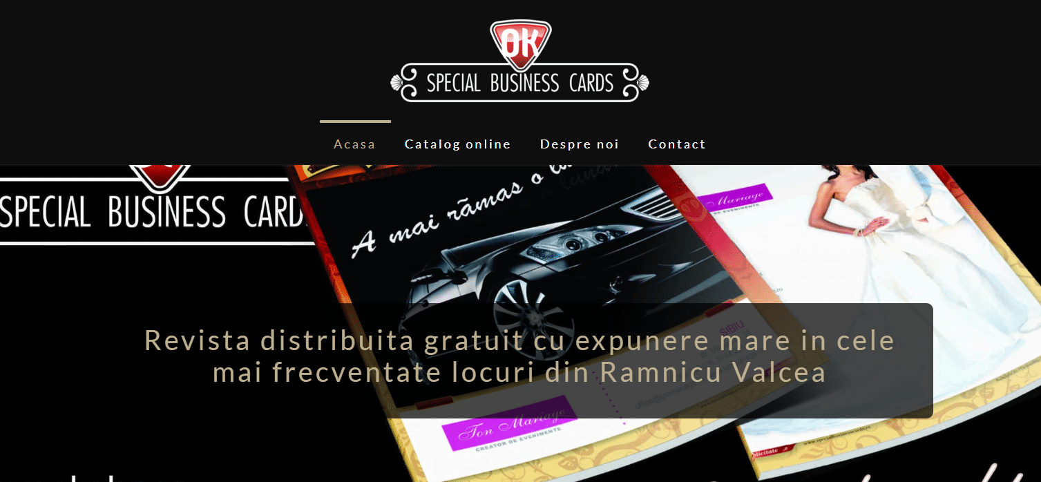 Special Business Card Valcea
