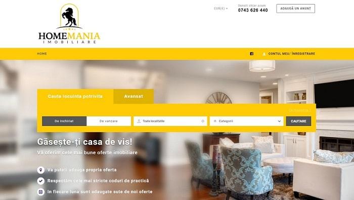 Creare site web agentie imobiliara