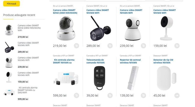 Creare magazin online pentru sisteme se securitate 3