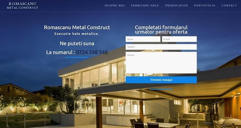 Creare site pentru hale metalice 4