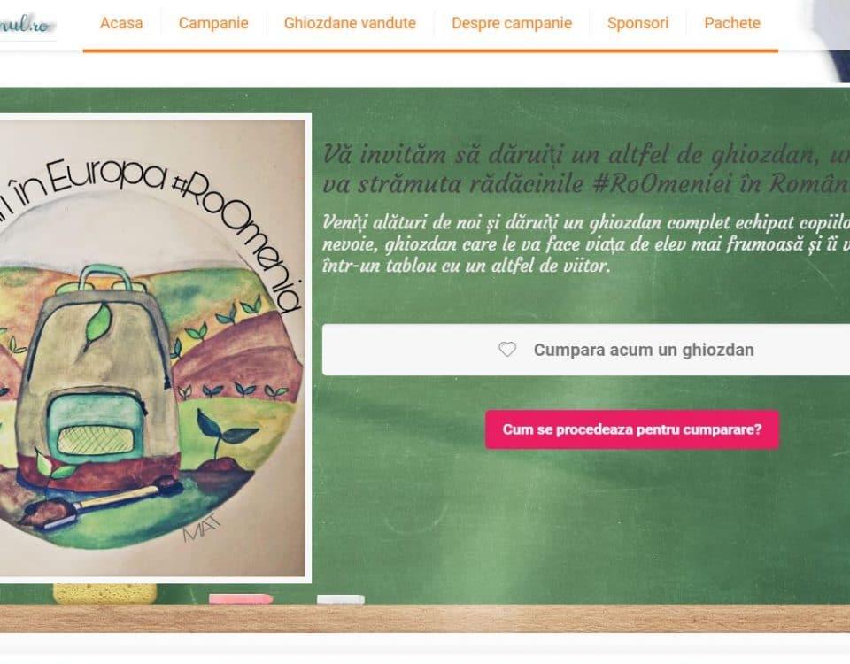 """Creare site web pentru campania """"Copacul din Ghiozdan"""" 9"""