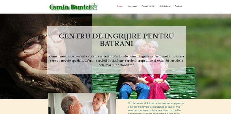 Creare site pentru camin bunici 6