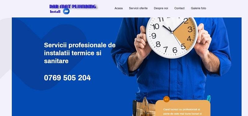 Creare web site pentru firma de instalatii sanitare 3