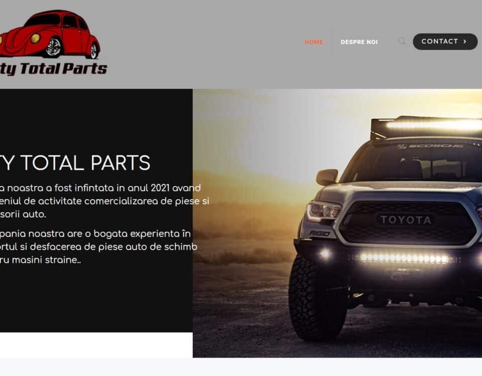Creare site web piese auto 1
