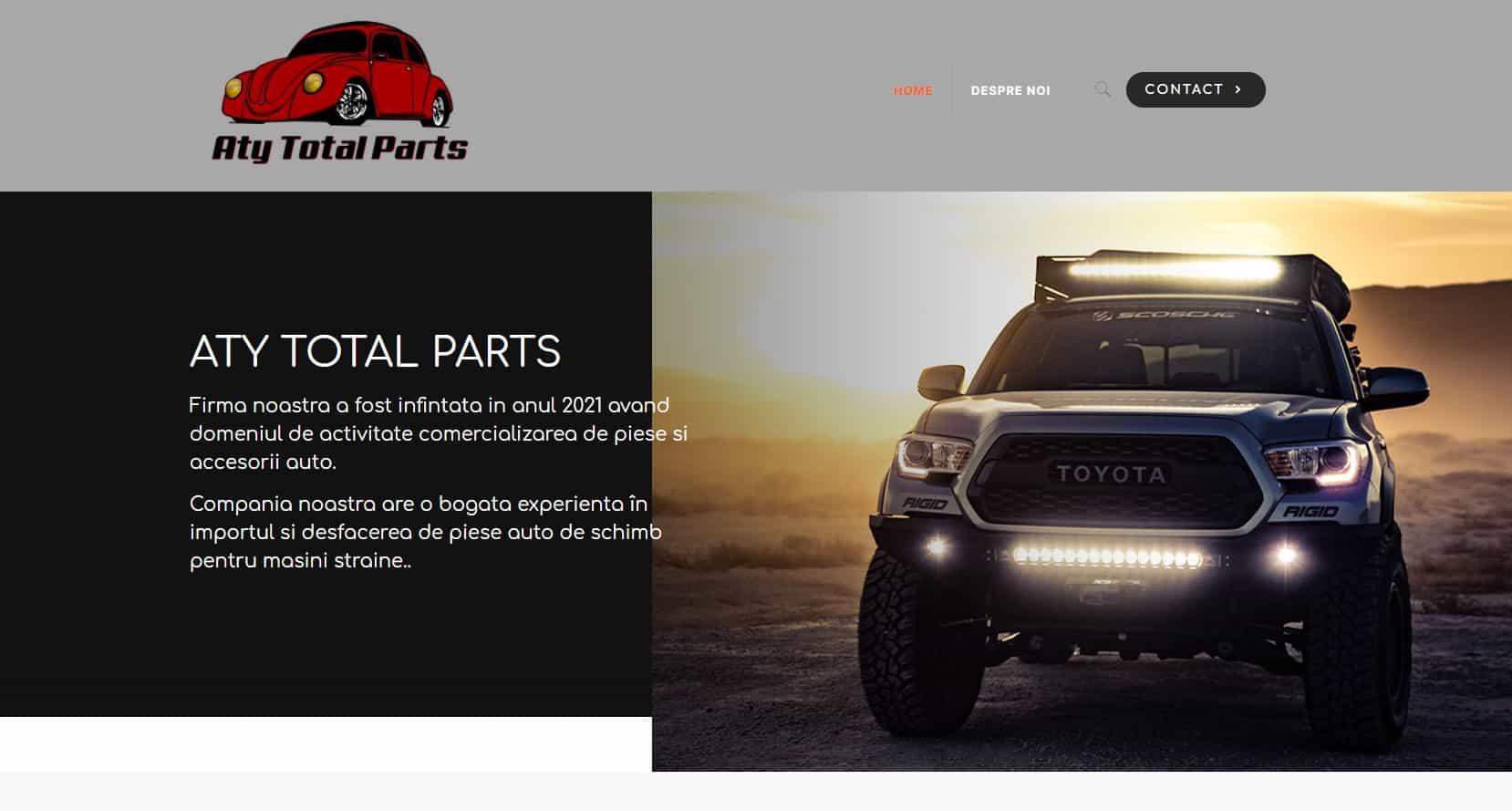 Creare site web piese auto 6