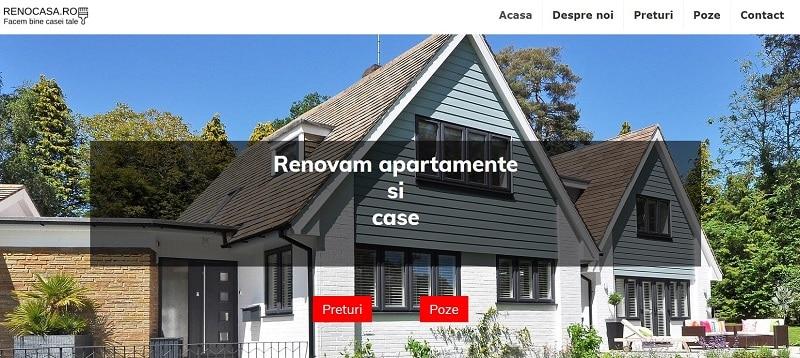 Creare site web pentru firma de renovari 3