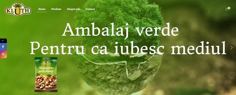 Creare website pentru produse alimentare sanatoase, Kluth Romania 3