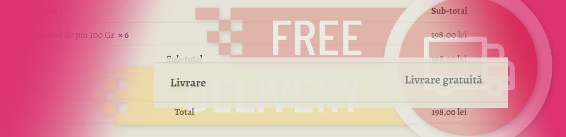 Afisare livrare gratuita