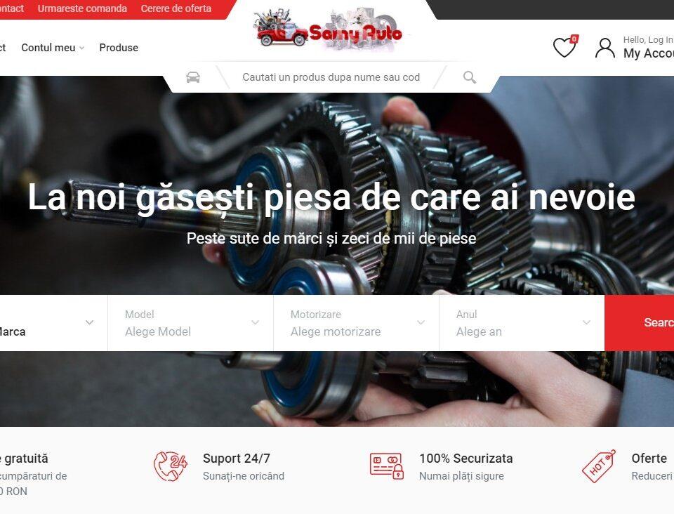 Creare site web pentru magazin piese auto 1